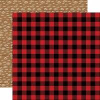 Little Lumberjack Double-Sided Cardstock 12 X12 -Buffalo Plaid - 1