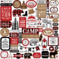 Little Lumberjack Cardstock Stickers 12 X12 -Elements - 1
