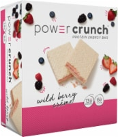 Power Crunch Wild Berry Creme Protein Energy Bars