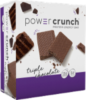 Power Crunch Triple Chocolate Protein Energy Bars 12 Count