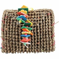 A&E Cage 001407 Happy Beaks Vine Mat forage Pouch Bird Toy - 1