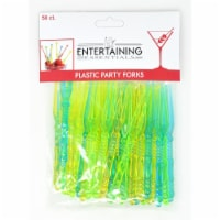 Entertaining Essentials EE122 Plastic Party Forks, 50 Piece - 1