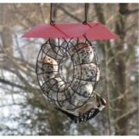 Songbird Essentials Suet Ball Red Roof Round Wire Circle Feeder