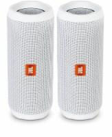 Jbl Flip 4 Waterproof Portable Wireless Bluetooth Speaker Bundle - (pair) White