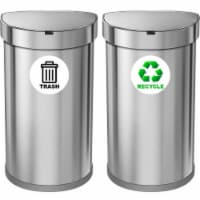 VWAQ Recycle and Trash Logo Sticker - Set of 6 Decals for Trash Can Recycling Bin - PAS29 - 1