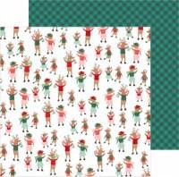 "Merry Little Christmas Double-Sided Cardstock 12""X12""-Dancing Reindeer - 1"