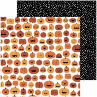 """Spoooky Double-Sided Cardstock 12""""X12""""-Pumpkin Carving - 1"""