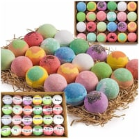 Gift Set of 24 Nurture Me Organic Bath Bombs, Large Bath Fizzies All Natural - 1
