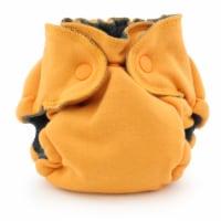 Ecoposh OBV Newborn AIO Fitted Cloth Diaper Saffron - Newborn