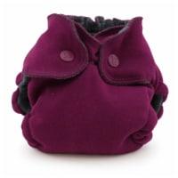 Ecoposh OBV Newborn AIO Fitted Cloth Diaper Boysenberry - Newborn