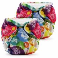 Kanga Care Lil Joey Newborn All in One AIO Cloth Diaper (2pk) tokiCorno 4-12lbs - Newborn