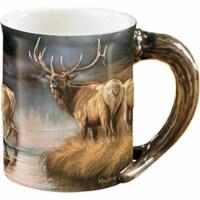 Wild Wings 66131 Autumn Mist Elk Sculpted Mug, Assorted Color