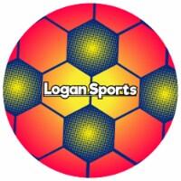 Logan Sports Soccer Ball - Orange/Yellow