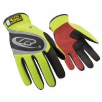 Ringers Gloves Mechanics Gloves,Hi-Vis Yellow,L,PR  118-10