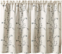 Curtain Works Lynne Embroidered Window Tier - 2 pk - Linen