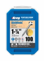 Kreg  No. 6   x 1-1/4 in. L Square  Zinc-Plated  Pocket-Hole Screw  100 count - Case Of: 1; - Count of: 1