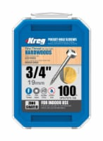 Kreg  No. 6   x 3/4 in. L Square  Zinc-Plated  Pocket-Hole Screw  100 pk - Case Of: 1; Each - Count of: 1