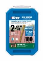 Kreg  No. 8   x 2-5/8 in. L Square  Pan Head Deck Screws  100 per box 100 per box - Case Of: - Count of: 1
