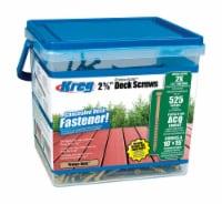 Kreg  No. 8   x 2-5/8 in. L Square  Pan Head Deck Screws  525 per box 525 per box - Case Of: - Count of: 1