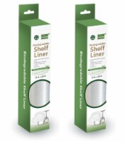 """Grand Fusion Biodegradable Shelf Liner 10 ft x 12"""" Clear with Raised Ribs - 2 Pack"""