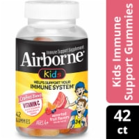 Airborne Kids Assorted Fruit Vitamin C Immune Support Supplement Gummmies 500mg