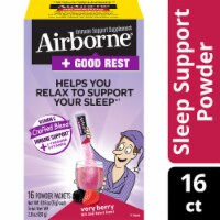 Airborne Good Rest Very Berry Immune Support Powder Packets 16 Count