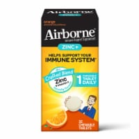 Airborne Orange Zinc + Vitamin C Immune Support Chewable Tablets - 32 ct