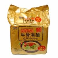 Paldo Gomtang Korean Noodles With Soup Base - 5 ct / 18 oz