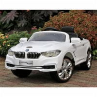 First Drive BMW 4 Series Kids Electric Ride On Car with Remote Control, White - 1 Piece