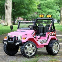 First Drive 4 x 4 style car Kids Electric Ride On Car with Remote Control, Pink - 1 Piece