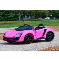 First Drive Lykan Hypersport Kids Electric Ride On Car with Remote Control, Pink - 1 Piece