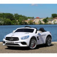 First Drive Mercedes Benz SL Kids Electric Ride On Car w/ Remote Control, White - 1 Piece