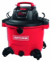 Craftsman 16 gal. Corded Wet/Dry Vacuum 12 amps 120 volt 6.5 hp Red 27 lb. - Case Of: 1