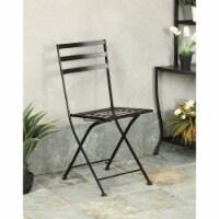Black metal chair (2pk)