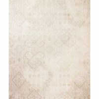 Bashian A160-IV-4X6-PRS102 Amalfi Collection Abstract Transitional Polyester Power Loom Area - 1