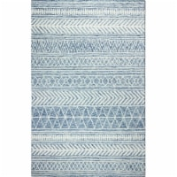 Bashian R131-DEN-76X96-AL118 7 ft. 6 in. x 9 ft. 6 in. Valencia Collection Transitional 100 P - 1