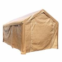 Aleko CP1020BE-UNB 10 x 20 ft. Heavy Duty Outdoor Gazebo Carport Canopy Tent with Sidewalls,