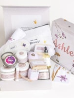 A Special Day Gift Box, Happy Birthday Gift Baskets, Lavender Natural Bath & Body - 1