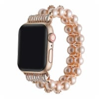 Aurora Rose Gold Faux Pearl Band for Apple Watch Series 1,2,3,4,5,6 & SE - Size 38mm/40mm - 38mm/40mm