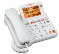 AT&T CL940 Corded Answering System with Large Tilt Display - White