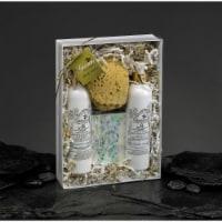 Greciansoap LBWS-21 3.5 oz Lavender Lemon Lotion & Body Wash Gift Set with Soap & Sponge - 1