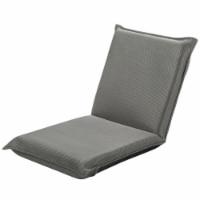Gymax Adjustable 6-Position Floor Chair Padded Folding Lazy Sofa Chair Grey - 1 unit