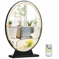 Gymax Hollywood Vanity Lighted Makeup Mirror Remote Control 4 Color Dimming Black/Gold/White - 1 unit