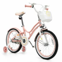 Gymax 18'' Kids Bike Toddlers Adjustable Freestyle Bicycle w/ Training Wheels - 1 unit