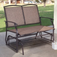 Costway Patio Glider Rocking Bench Double 2 Person Chair Loveseat Armchair Backyard - 41.3''x28.1''x36.6''