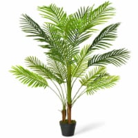 Gymax 4.3Ft Artificial Phoenix Palm Tree Plant for Indoor Home Office Store - 1 unit