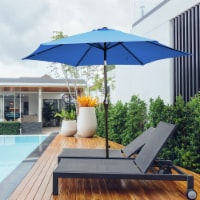Gymax 10 ft Patio Umbrella Market Table Umbrella Yard Outdoor w/ 6 Ribs - 1 unit
