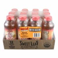 Sweet Leaf Tea Black Iced Tea - Peach - Case of 12 - 16 Fl oz. - 16 FZ