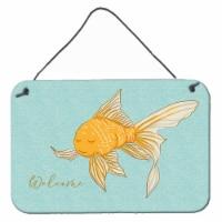 Carolines Treasures  BB8551DS812 Gold Fish Welcome Wall or Door Hanging Prints - 8HX12W