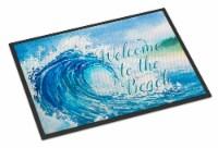 Carolines Treasures  BB8529MAT Wave Welcome Indoor or Outdoor Mat 18x27 - 18Hx27W
